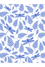 Sanbao Insects Dragonfly (underglaze decal - 16cm x 22cm)