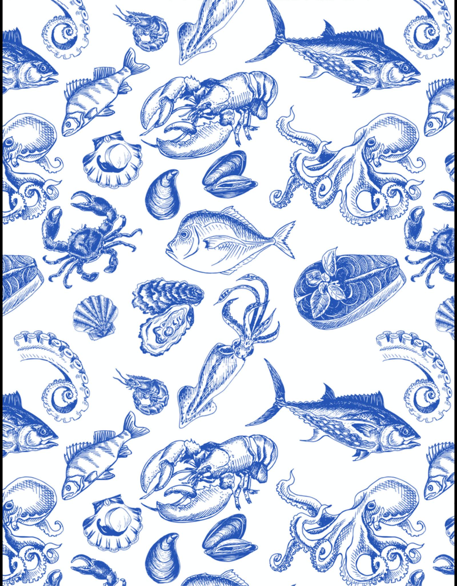 Sanbao Ocean – Shellfish (underglaze decal - 16cm x 22cm)