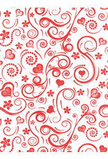 Sanbao Pattern – Swirly Heart (underglaze decal - 16cm x 22cm)