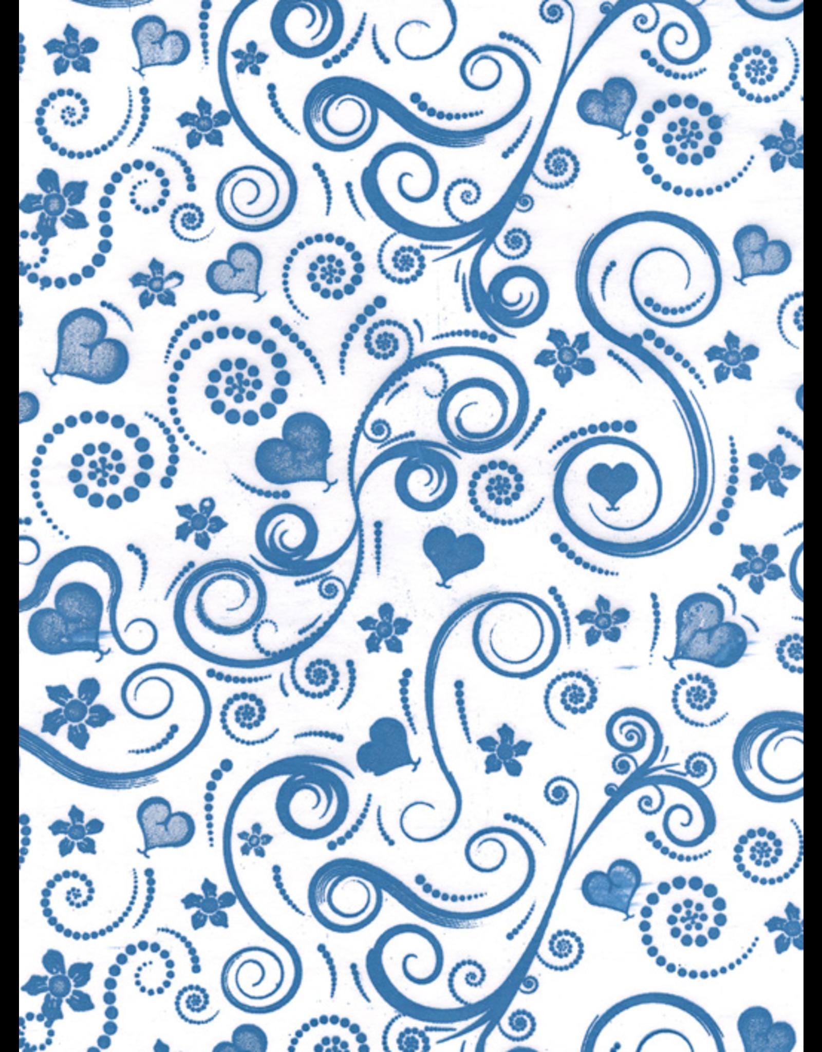 Sanbao Pattern – Swirly Heart (underglaze decal - 16cm x 22cm)