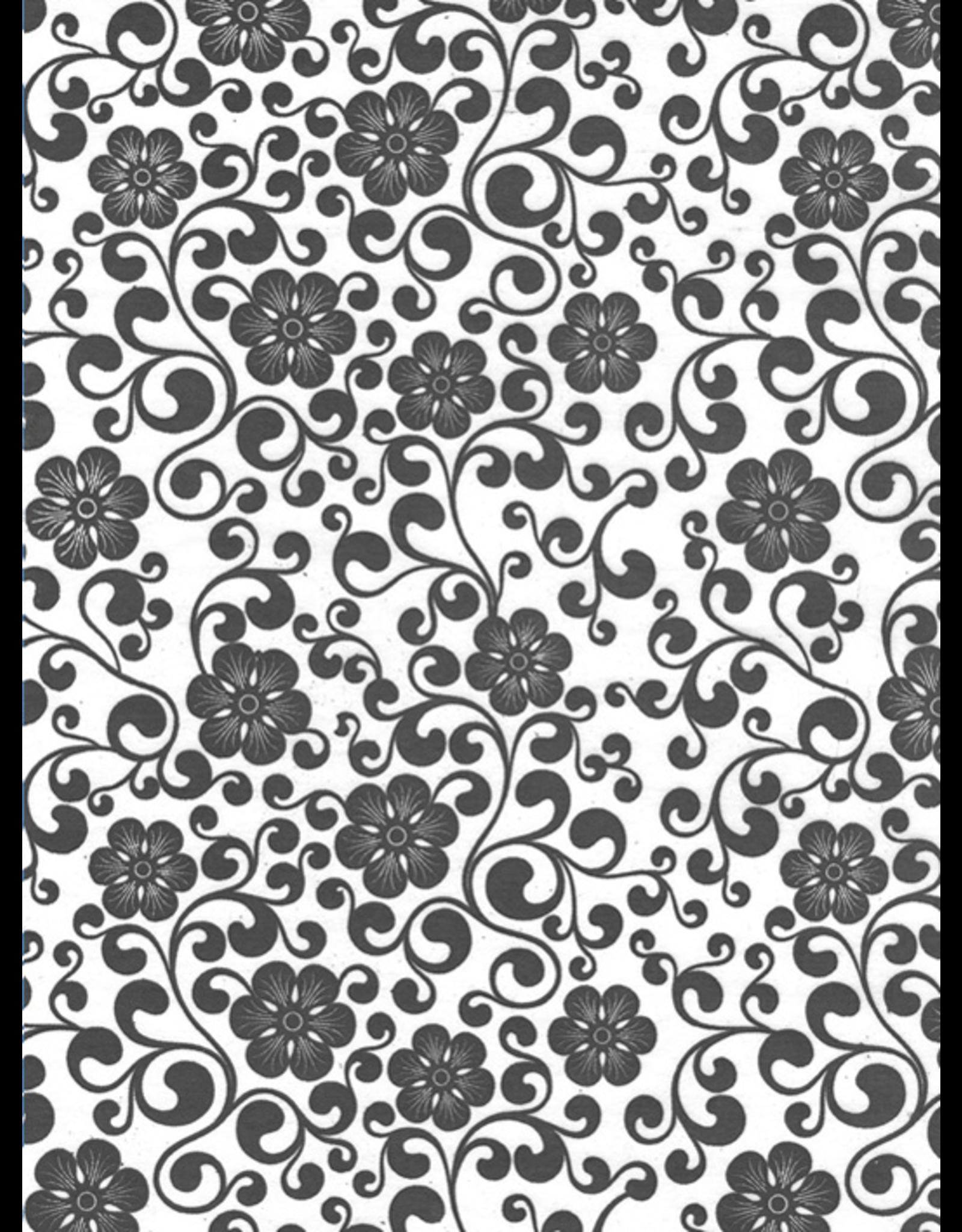 Sanbao Pattern – Vine Flower (underglaze decal - 16cm x 22cm)