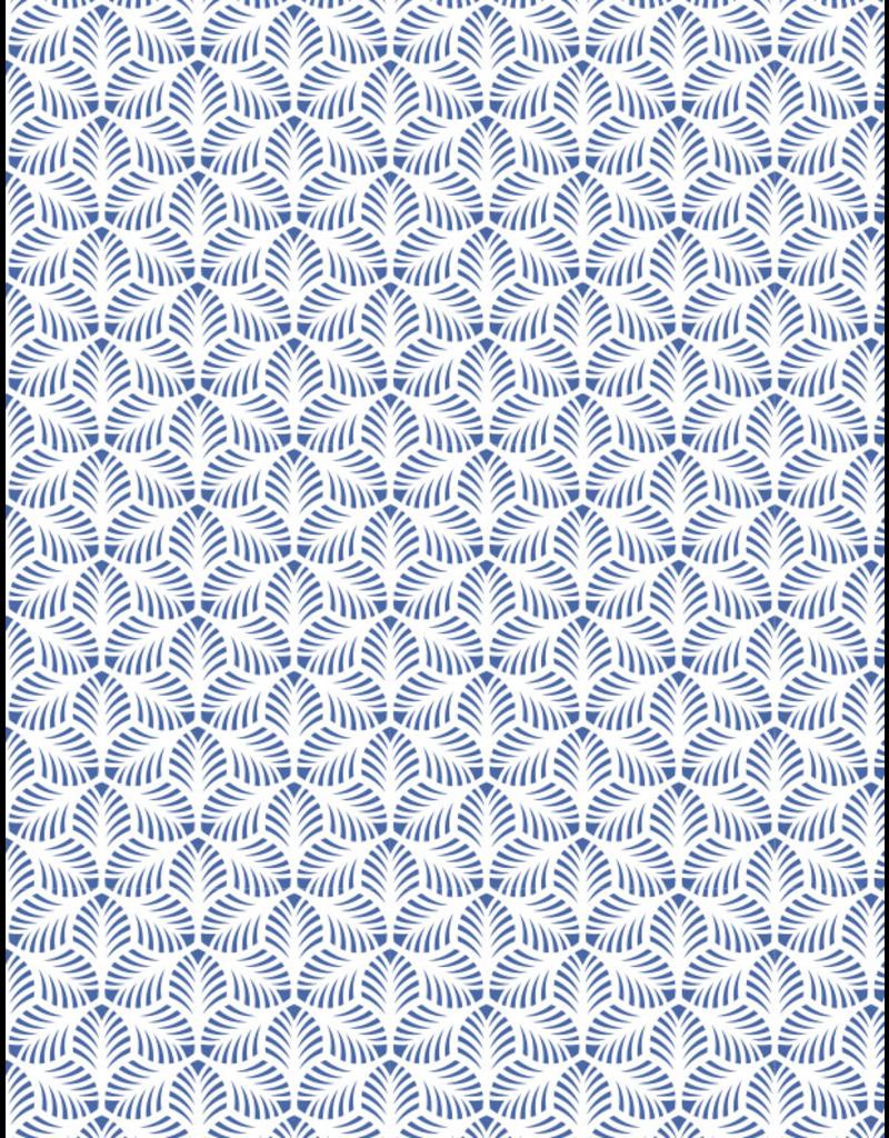 Sanbao Pattern decal – Palm Leaves (underglaze decal - 16cm x 22cm)