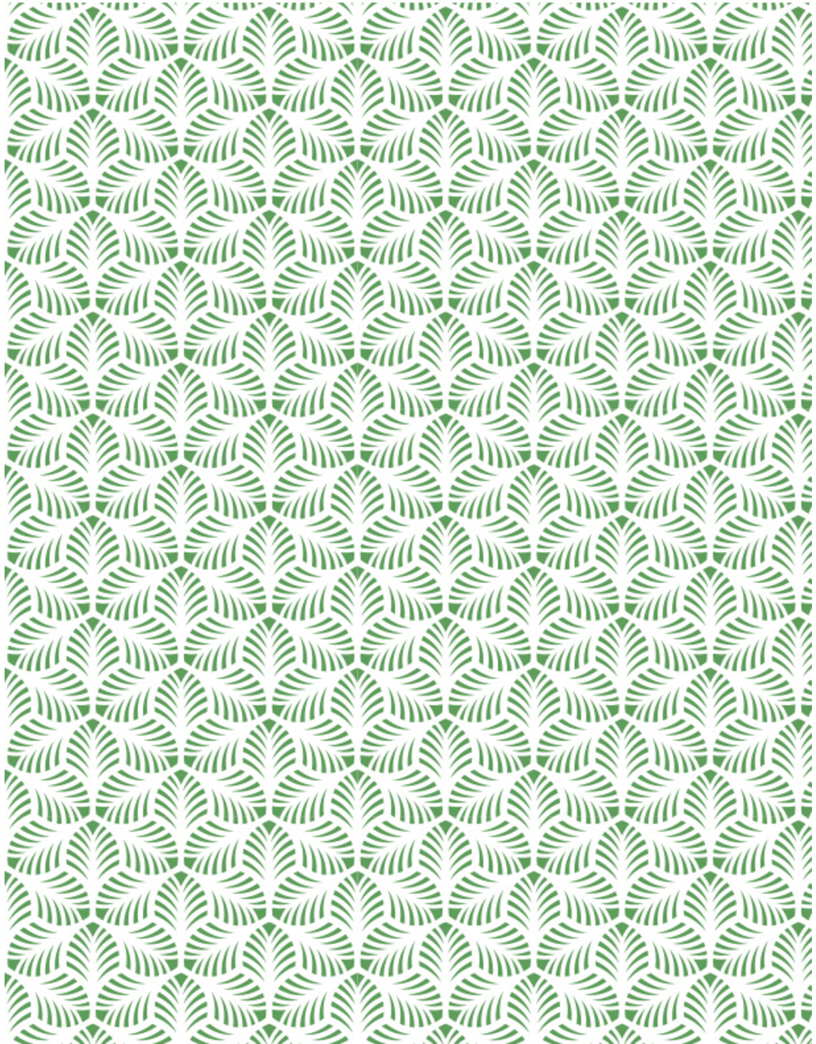 Sanbao Pattern decal – Palm Leaves (underglaze decal - 16cm x 22cm)