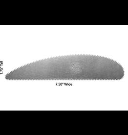 Mudtools XL Scraper Serrated rib stainless steel