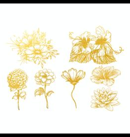 Sanbao Gold Flower Decal