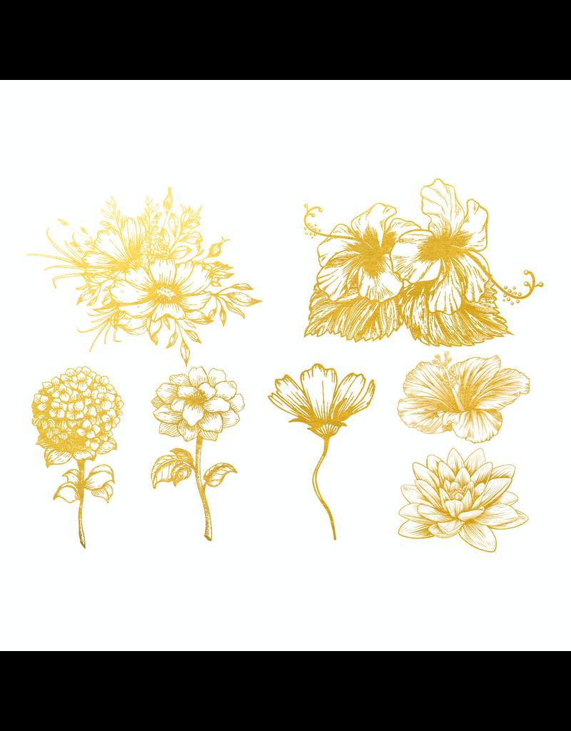 Sanbao Gold Flower Overglaze Decal