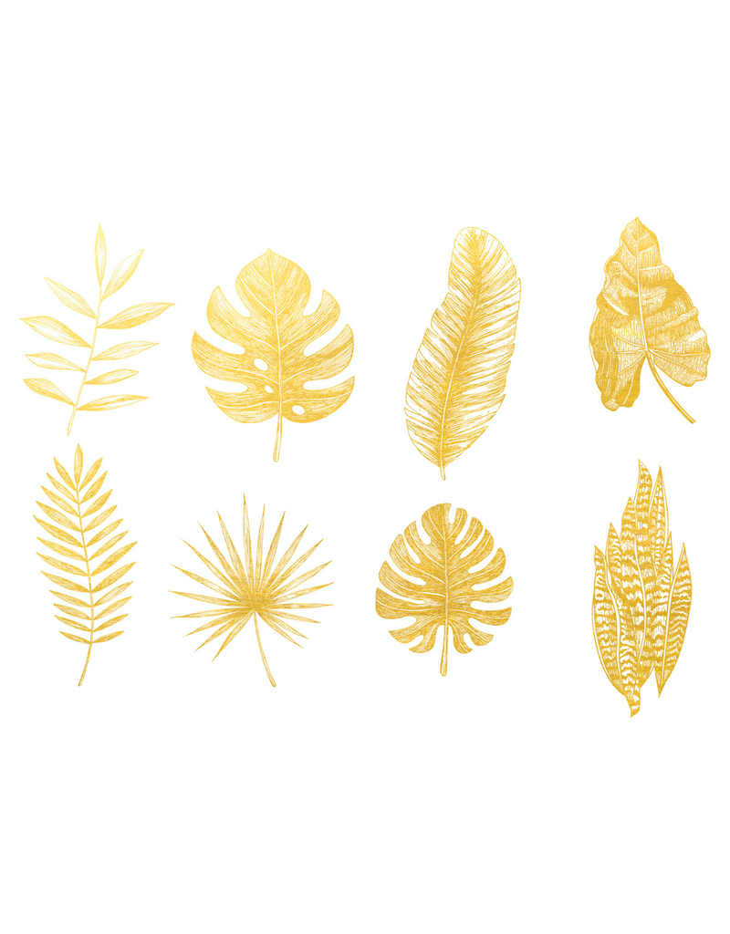 Sanbao Gold Leaf 01 Overglaze Decal