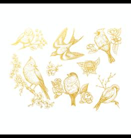 Sanbao Gold Birds Decal