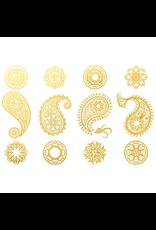 Sanbao Gold Paisley Overglaze Decal