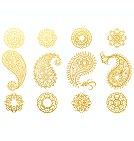 Sanbao Gold Paisley Decal