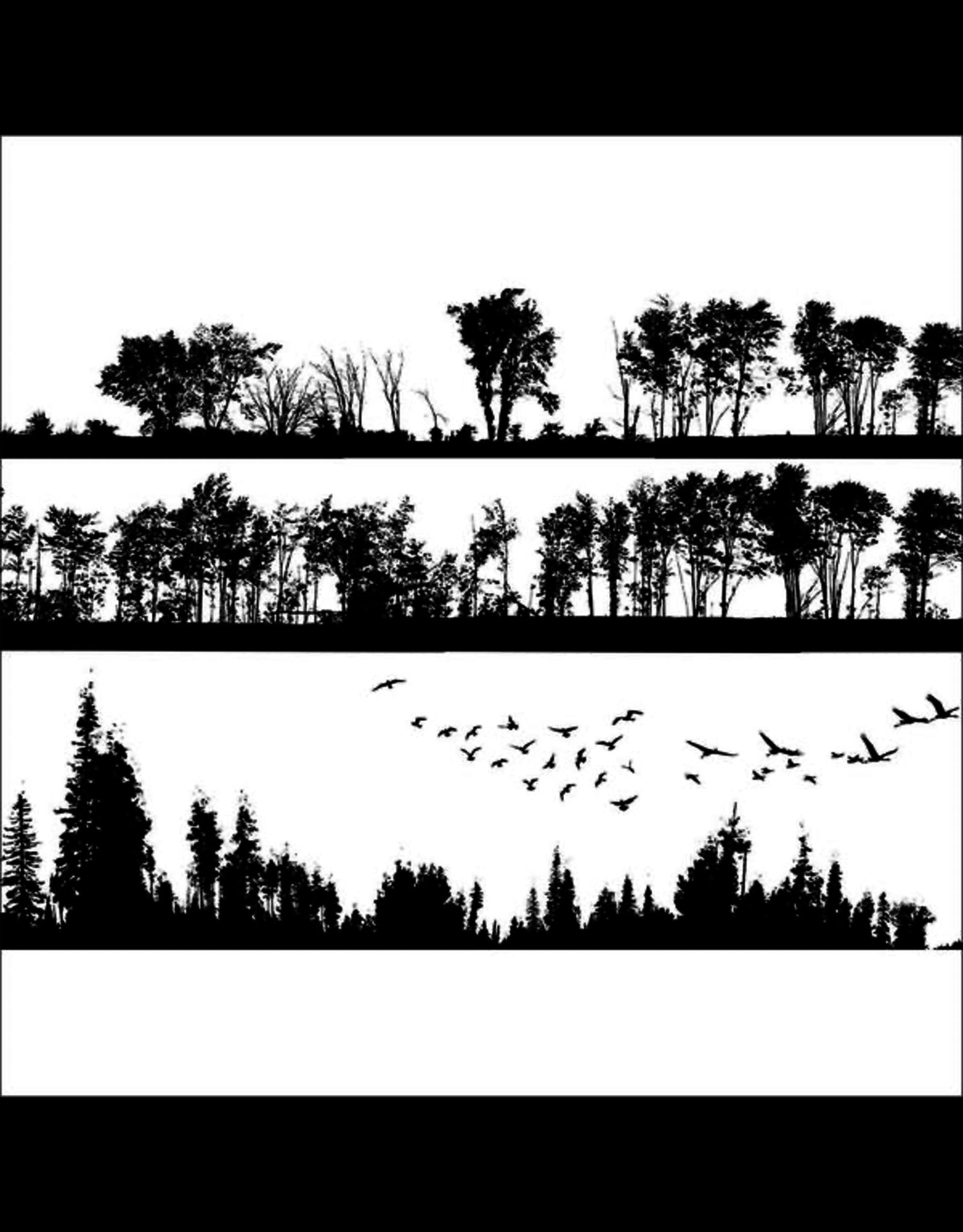 Sanbao Forest Silhouette (underglaze decal - 16cm x 22cm)