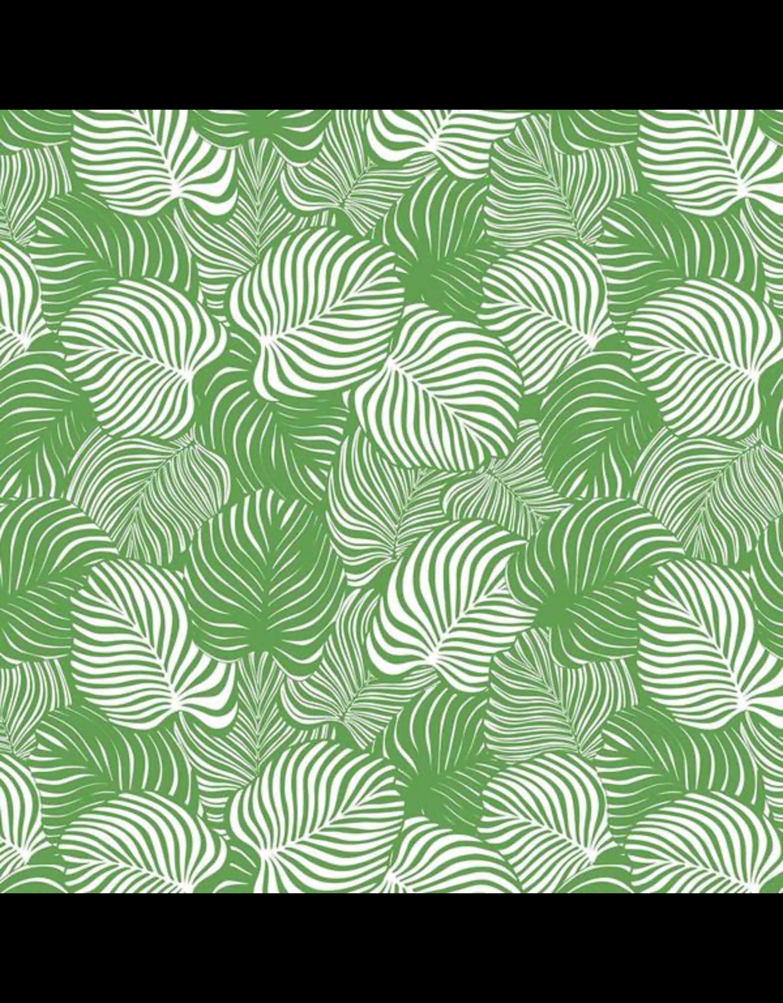 Sanbao Leaf-Monstera (underglaze decal - 16cm x 22cm)