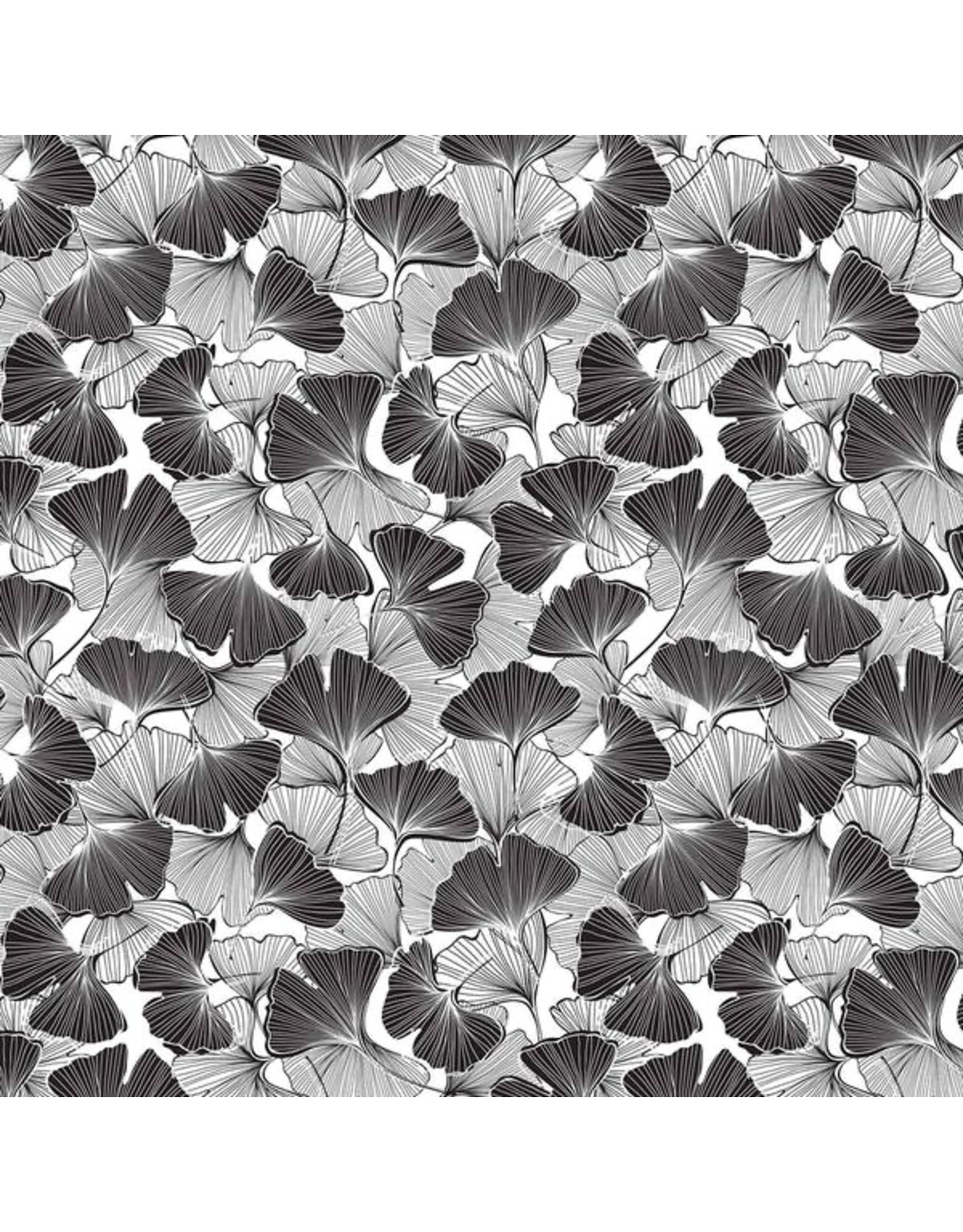 Sanbao Leaf- Ginkgo (underglaze decal - 16cm x 22cm)