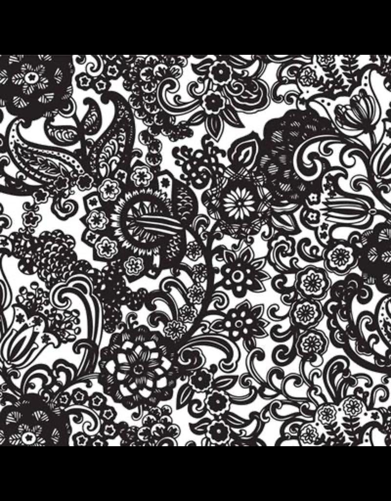 Sanbao Clayshare-Retro Floral (underglaze decal - 16cm x 22cm)