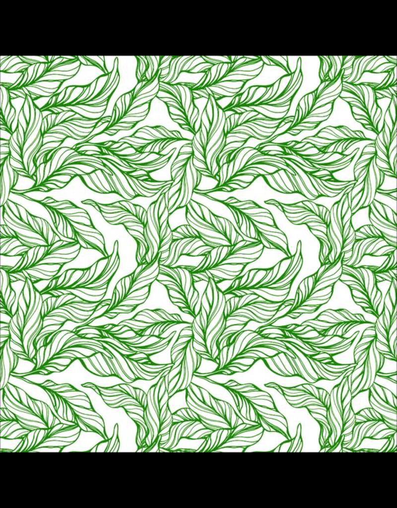 Sanbao Leaf Tropical-  (underglaze decal - 16cm x 22cm)