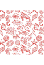 Sanbao Ocean - Mix Creature  (underglaze decal - 16cm x 22cm)