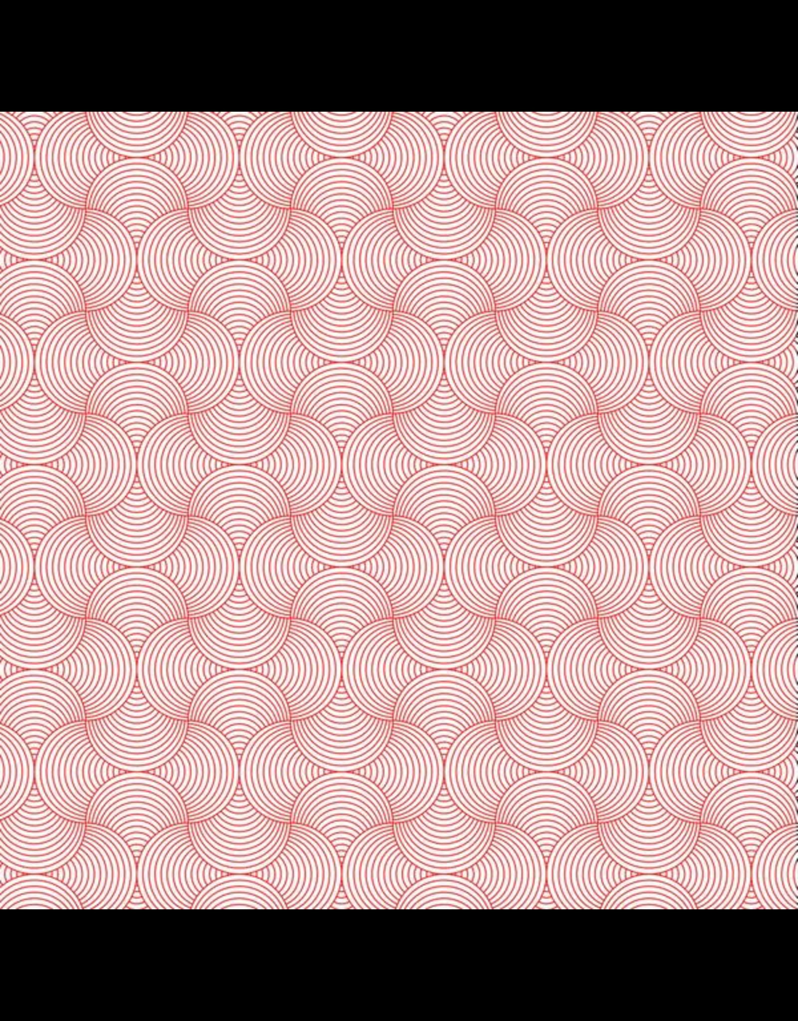 Sanbao Pattern- line Circle  (underglaze decal - 16cm x 22cm)