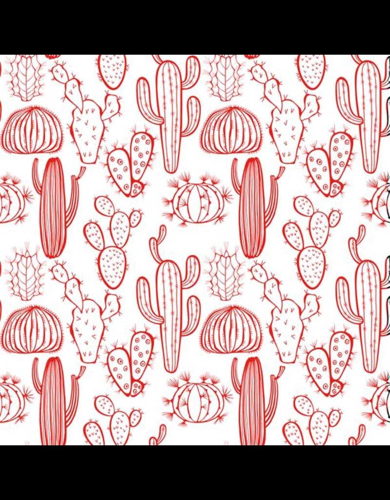 Sanbao Plants - Cactus  (underglaze decal - 16cm x 22cm)