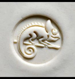 Chameleon on Branch  stamp (2.5cm)