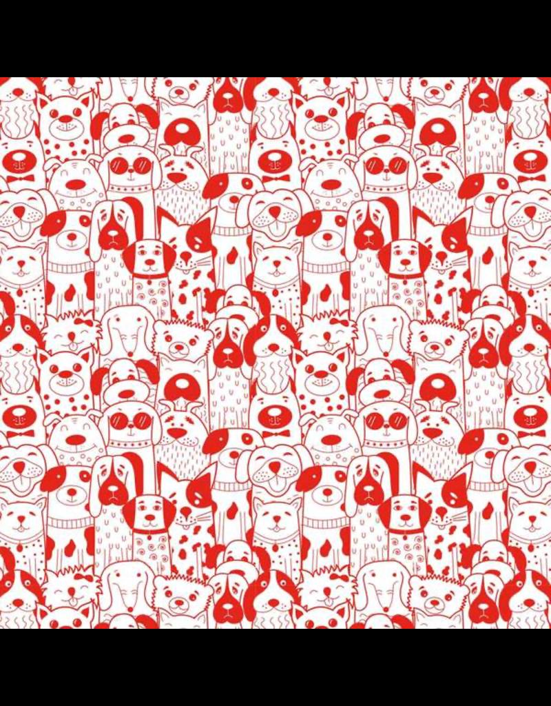 Sanbao Animal - Groovy Dogs (underglaze decal - 16cm x 22cm)