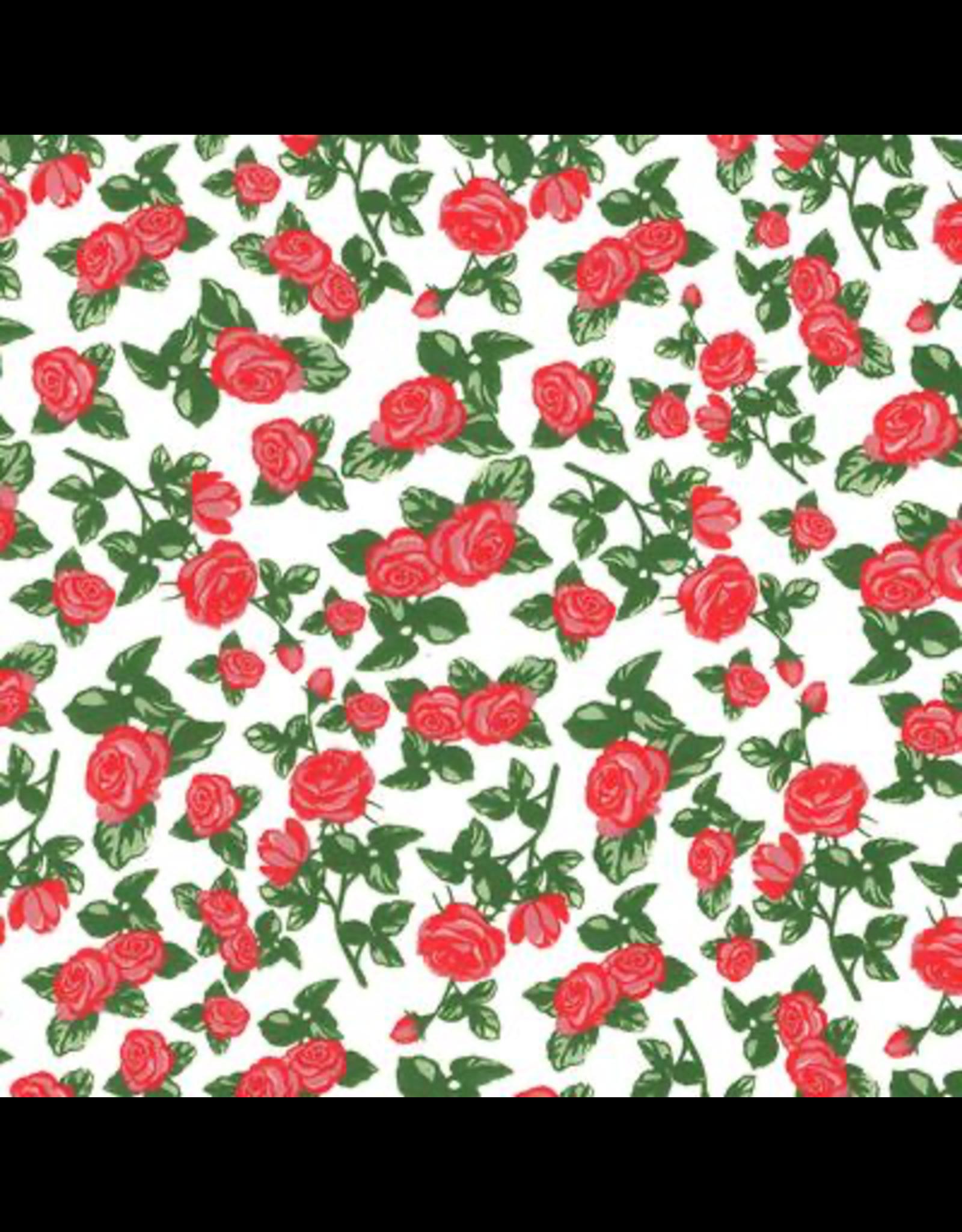 Sanbao Red Rose (underglaze decal - 16cm x 22cm)