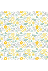 Sanbao Yellow Flower (underglaze decal - 16cm x 22cm)
