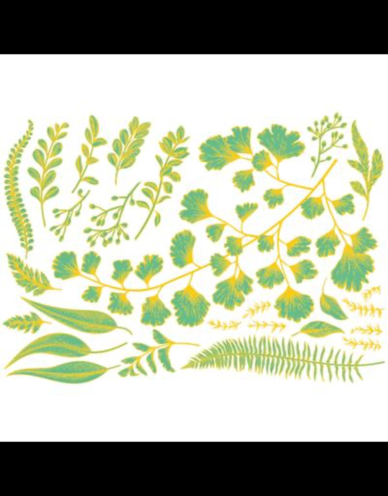 Sanbao Teal & Gold - Leaf
