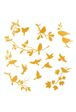 Sanbao Gold Birds Silhouette