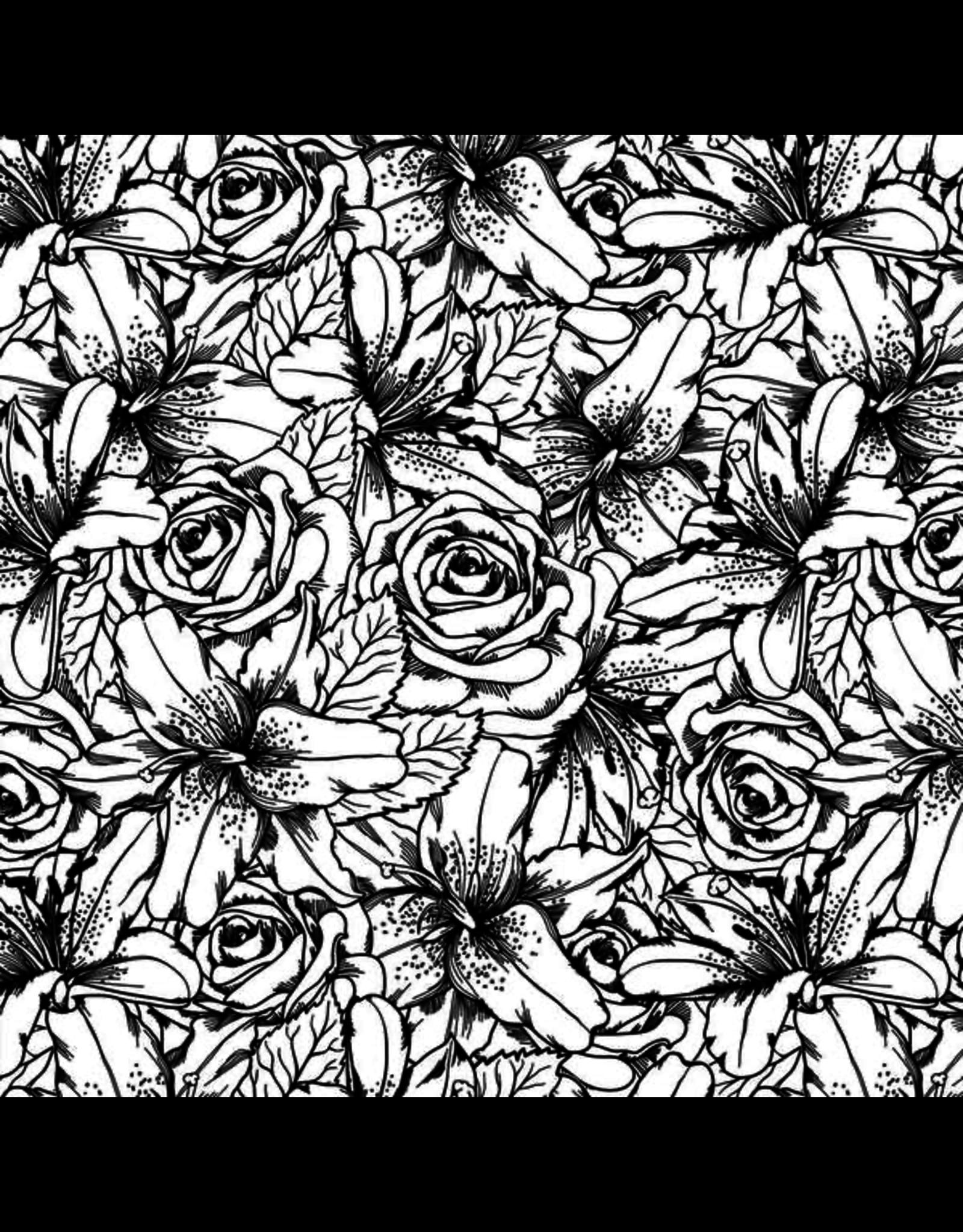 Sanbao Flower Lily & Rose (underglaze decal - 16cm x 22cm)
