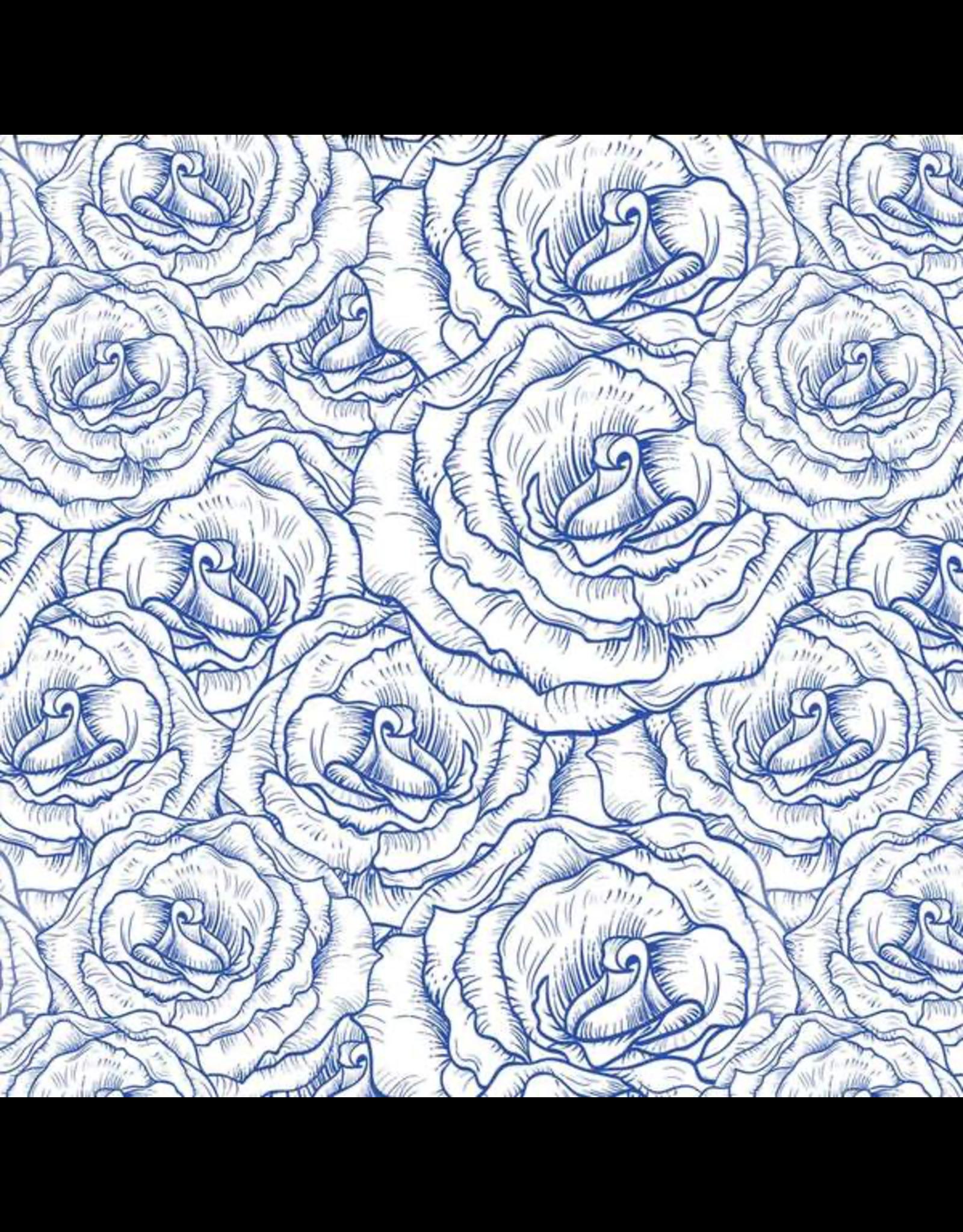 Sanbao Flower Rose buds  (underglaze decal - 16cm x 22cm)