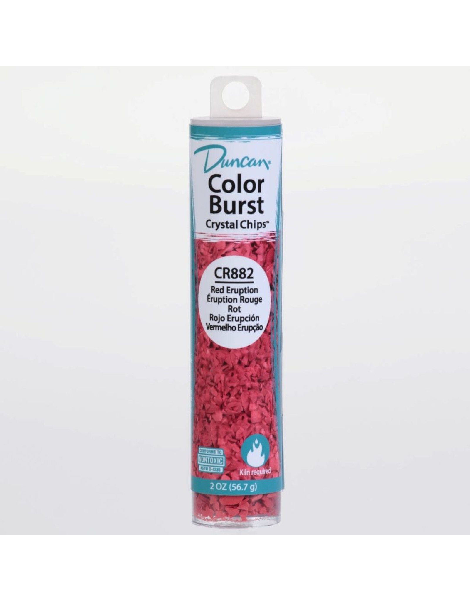 Potterycrafts Duncan Colour Burst Crystal Chips Red Eruption