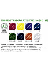Amaco AMACO® Semi-Moist Underglaze watercolour set 108
