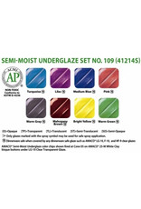 Amaco AMACO® Semi-Moist Underglaze watercolour set 109