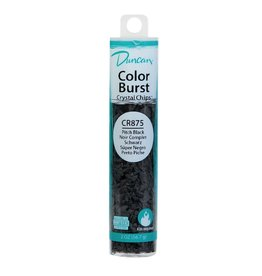 Potterycrafts Duncan Colour Burst Crystal Chips Pitch Black