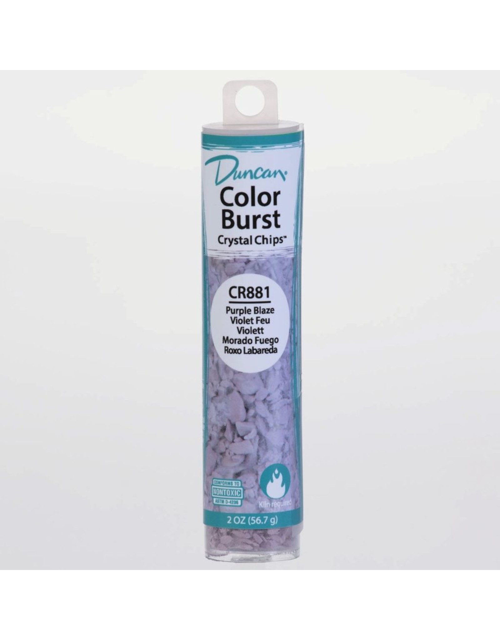 Potterycrafts Duncan Colour Burst Crystal Chips Purple Blaze