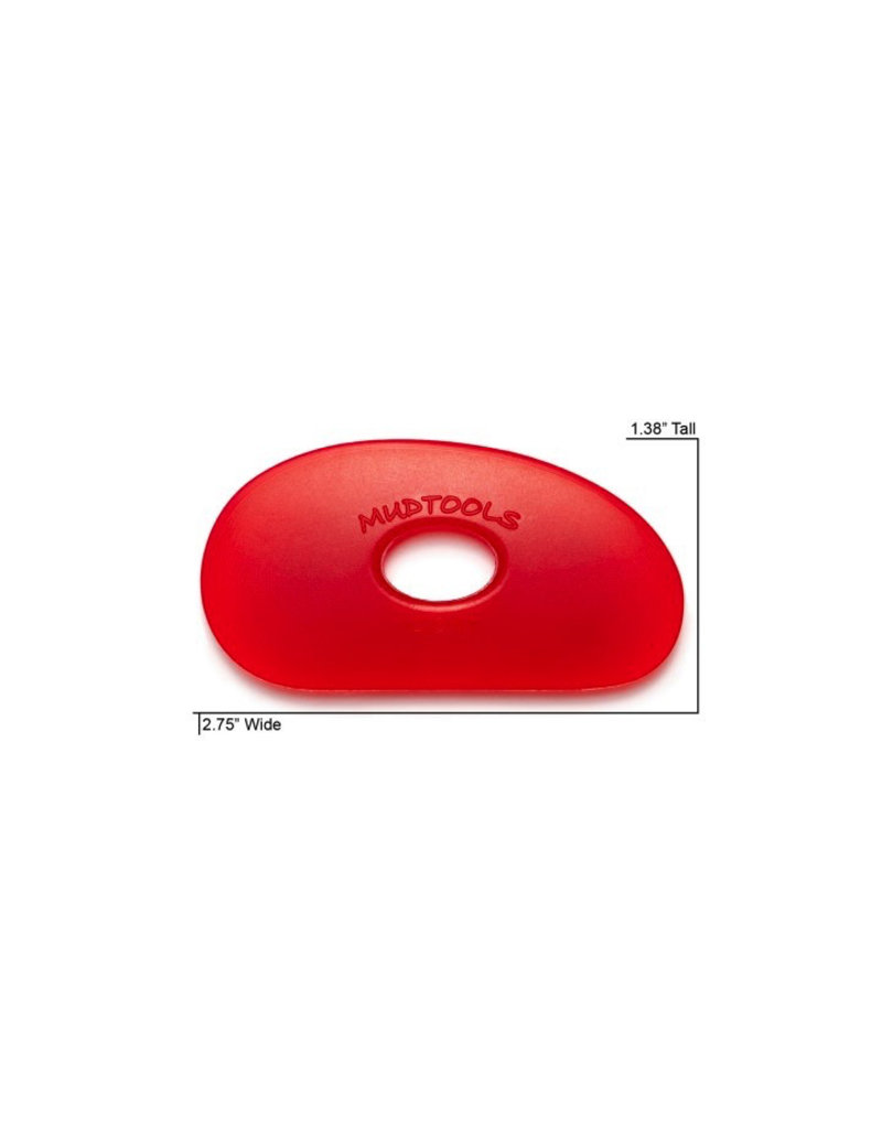 Mudtools Mudtools Polymer rib size 0 (red) very soft