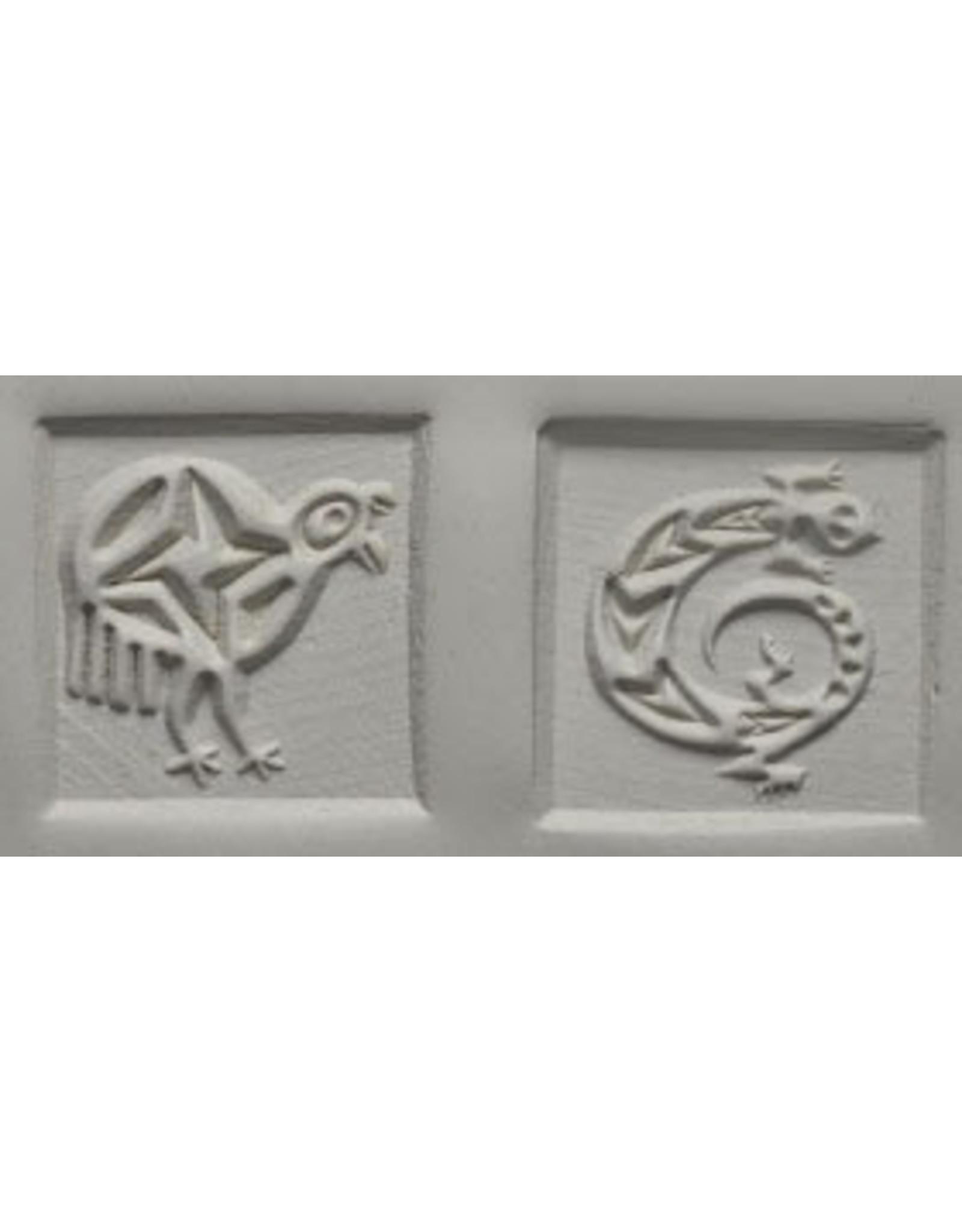 Lizard and Flightless Bird Stamp