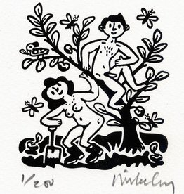 Adam and Eve - Black/White (Small)