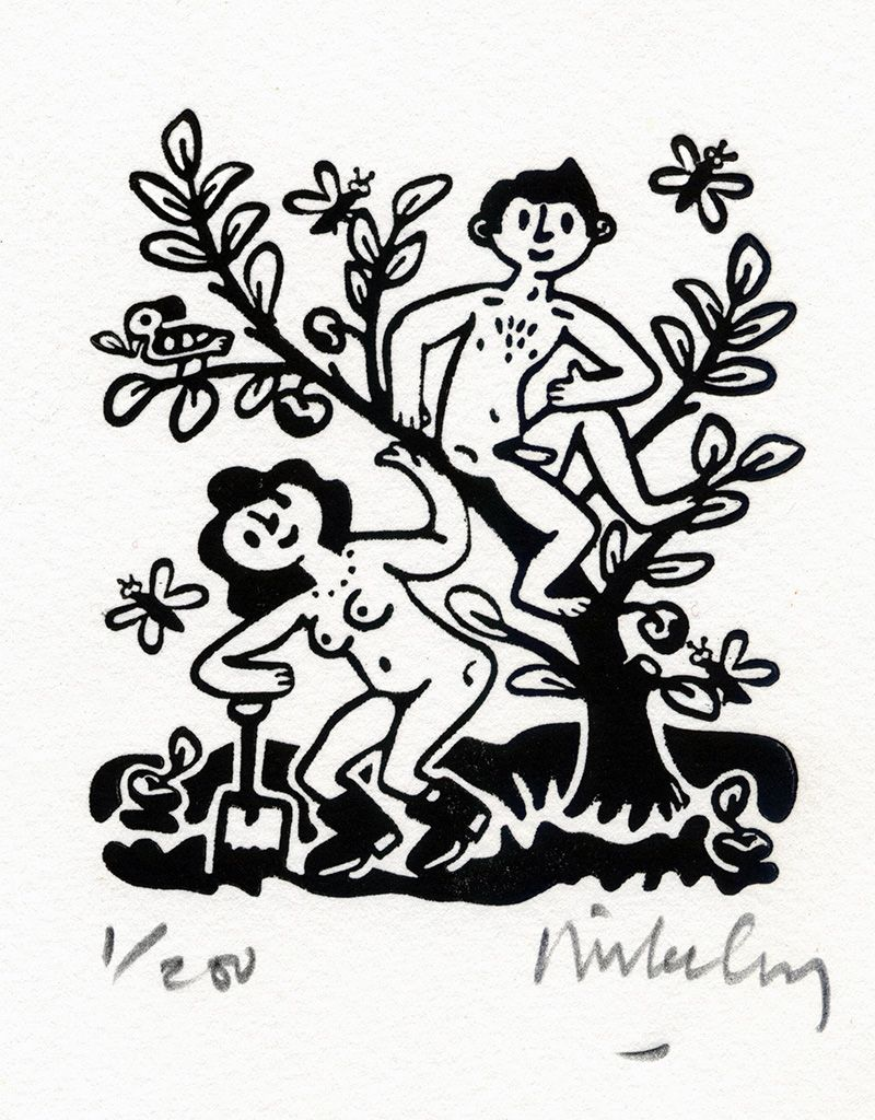 Adam and Eve - Black/White (Small)