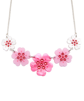 Cherry Blossom Link Necklace
