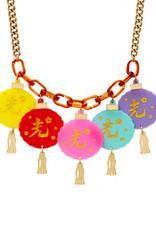 Oriental Lantern Necklace