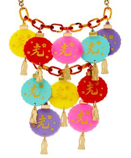 Oriental Lantern Statement Necklace