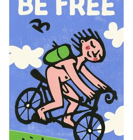Be Free Biker Small Poster