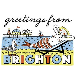 Brighton Mermaid Small Poster