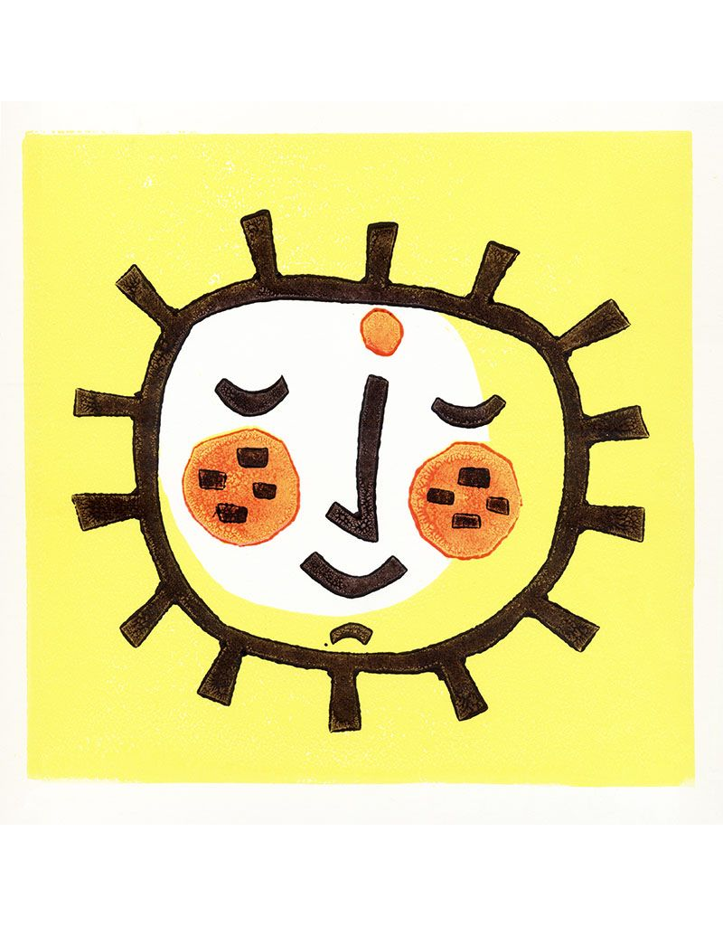 Lemon Sun Small Poster