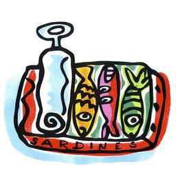 Sardines Small Poster