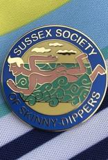 Enamel Badge: Sussex Society of Skinny-Dippers