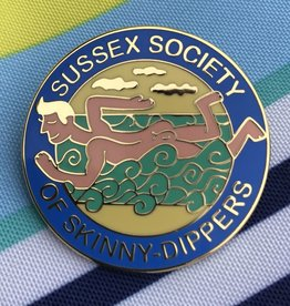 Enamel Badge: Sussex Society of Skinny-Dippers