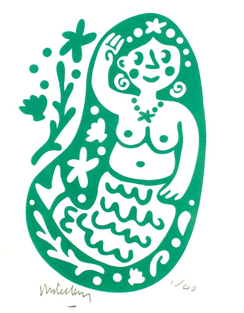 Teya's Mermaid (green)