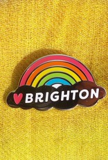 Enamel Brooch: Brighton rainbow